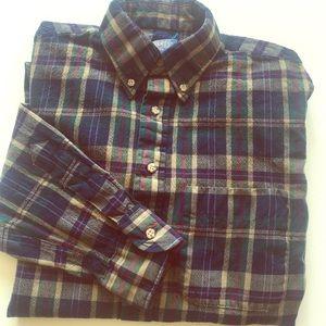 Pendleton 100% Wool plaid long sleeve Medium long